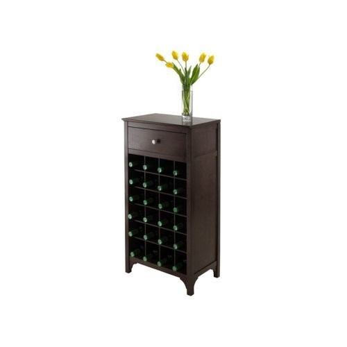 Winsome Ancona Modular 24 Bottle Wine Cabinet with Drawer