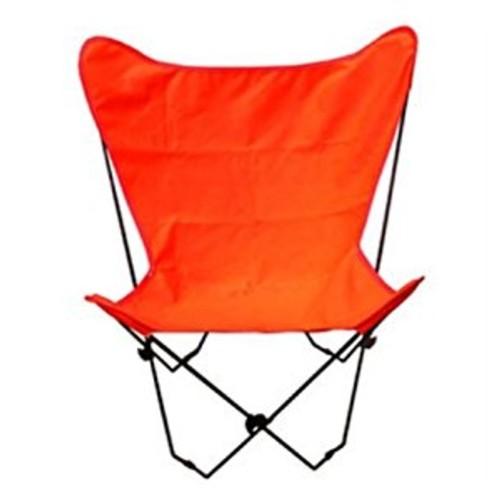 Butterfly Chair (Black Frame w Orange Fabric)