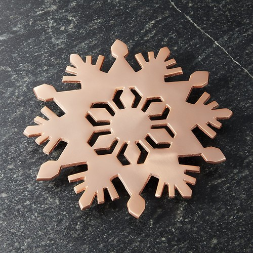 Copper Snowflake Trivet