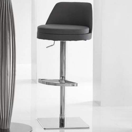 Bellini Modern Living Dante Adjustable Height Swivel Bar Stool; White