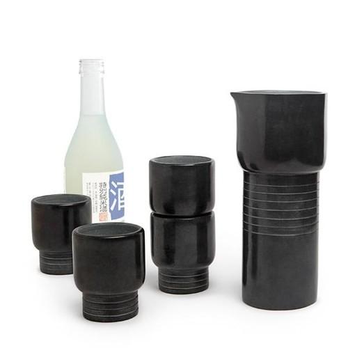 Soap Stones Sake Carafe & Cups Set design by Teroforma