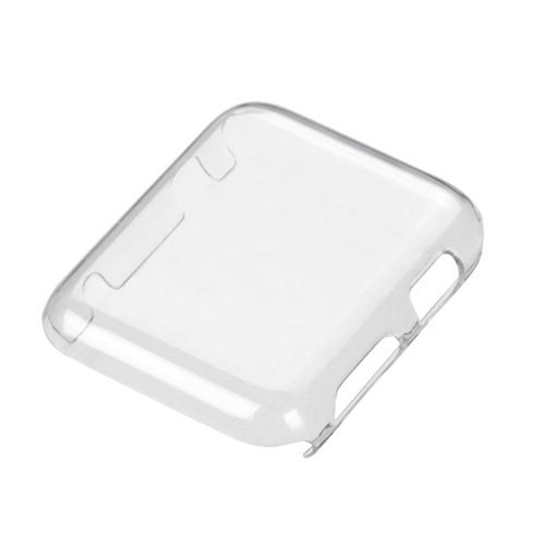 Insten - TPU Rubber Candy Skin [Anti-Shock] Bumper Case Cover Compatible with Apple Watch iWatch 42mm - Clear