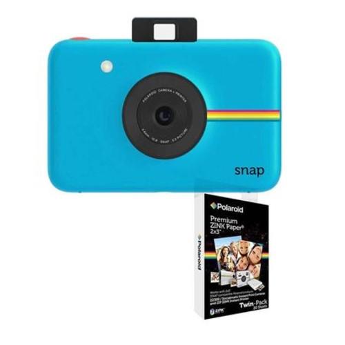Polaroid SNAP 10MP Instant Digital Camera Blue W/Polaroid 2x3