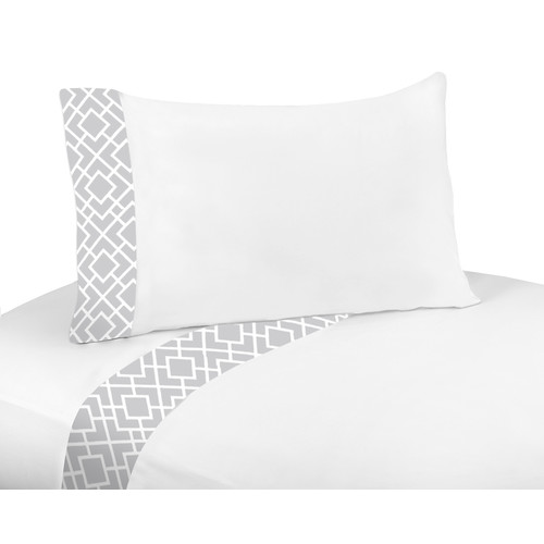 Sweet Jojo Designs Diamond Gray and White Collection Sheet Set