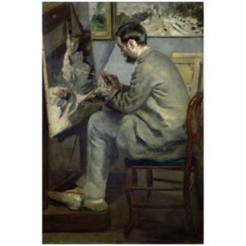 Trademark Fine Art 22 in. x 32 in. Frederic Barille at his Easel 1867 Canvas Art