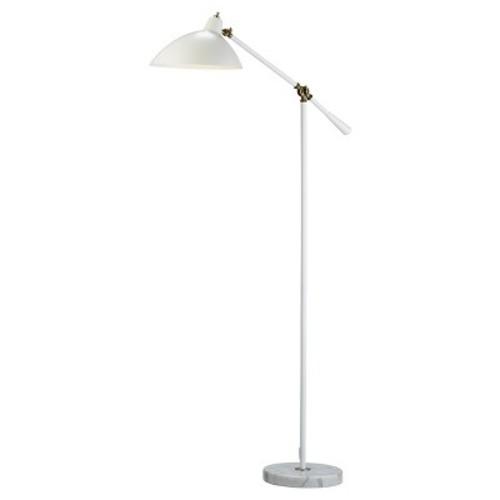 Adesso Peggy Floor Lamp - White