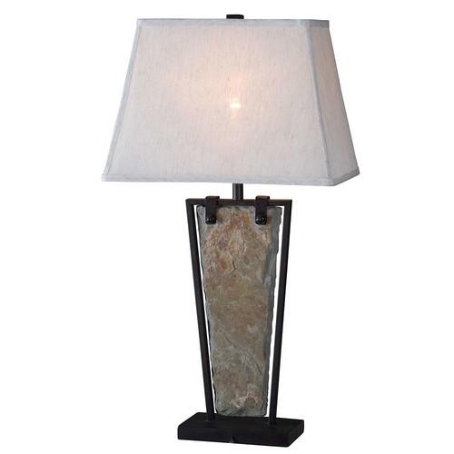Kenroy Home Free Fall 30 in. Green Slate Table Lamp
