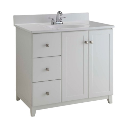 Design House 36 in. W Semi-Gloss Single Wood Vanity Cabinet(547166)