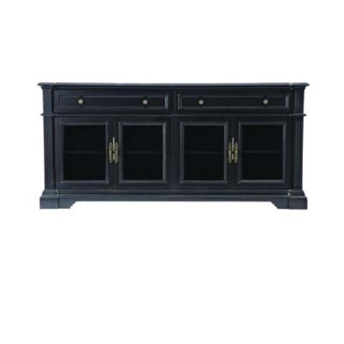Home Decorators Collection Bufford Rubbed Black Storage Entertainment Center