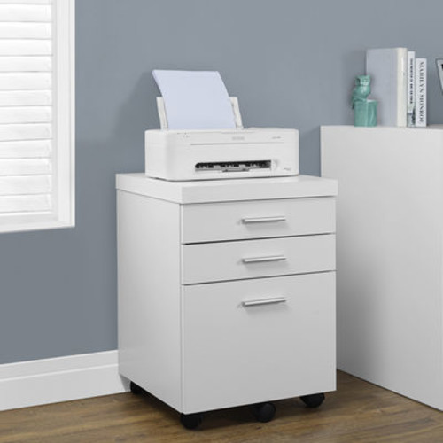 Monarch Specialties 3 Drawer File Cabinet on Casters