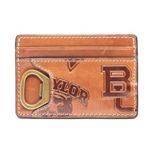 Jack Mason Baylor University Sideline Leather ID Card Case in Brown
