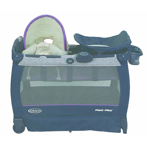 Graco Pack 'n Play Playard With Cuddle Cove Removable Vibrating Seat & Changing Stattion - Janey