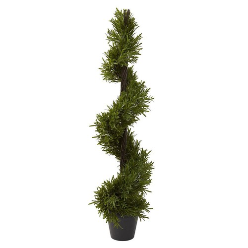 nearly natural 39-in. Rosemary Spiral Tree - Indoor & Outdoor