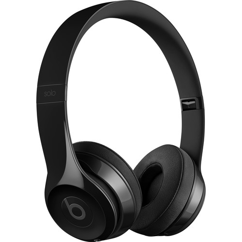 Beats by Dr. Dre - Geek Squad Certified Refurbished Beats Solo3 Wireless Headphones - Gloss Black