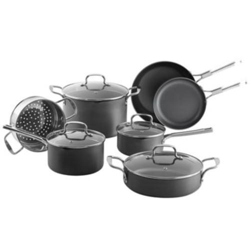 SALT Nonstick Hard Anodized 11-Piece Cookware Set
