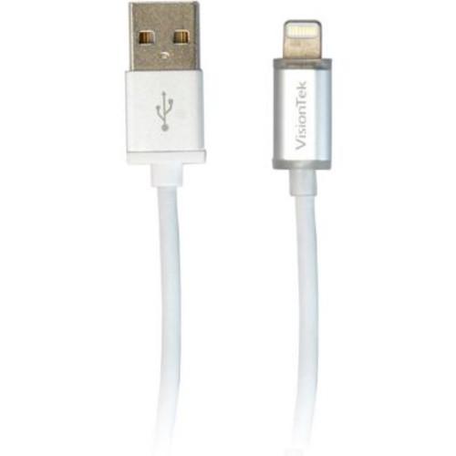 Visiontek Lightning to USB Smart LED 6 Inch 15 Centimeters MFI Cable (900896)