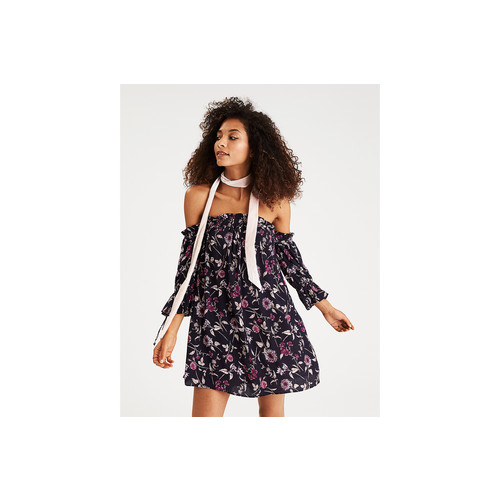 AEO Printed Off-the-Shoulder Dress