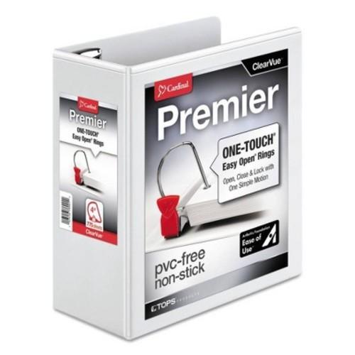 Cardinal Easy-Open ClearVue Extra-Wide Locking Slant-D Binder, 4\