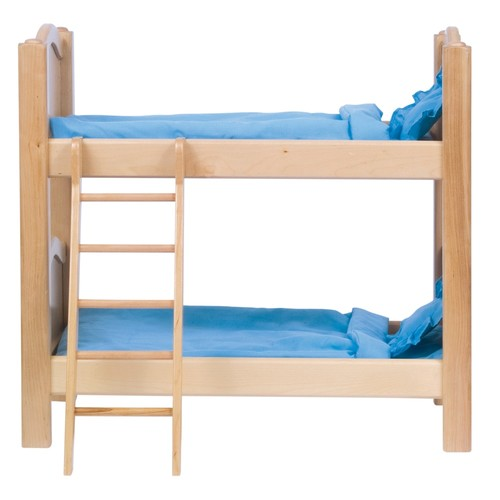 Guidecraft Natural Wooden Doll Bunk Bed - Fits 18