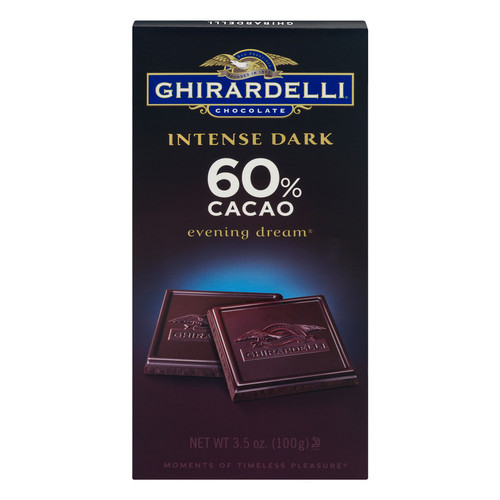 Ghirardelli Intense Dark Chocolate 60% Cacao Evening Dream Bar, 12 pk./3.5 oz.