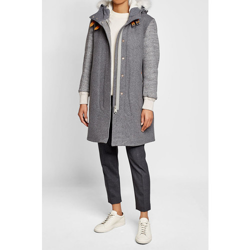 Coat with Wool and Shearling