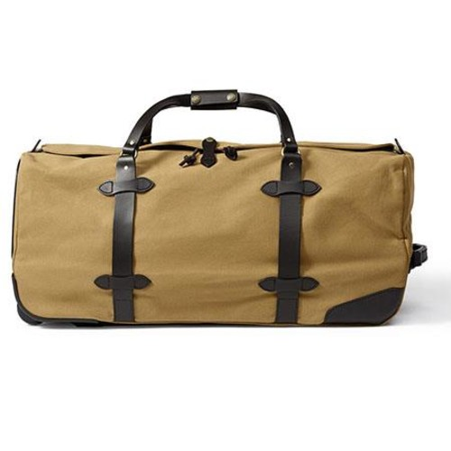 Filson Large Twill Rolling Duffle Bag, Tan