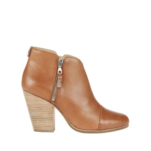 RAG & BONE Margot Leather Double Zip Booties