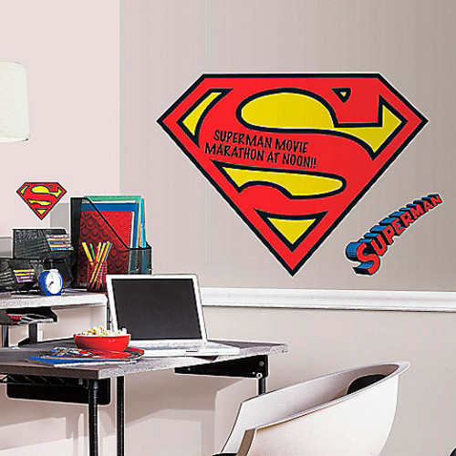DC Comics Superman Logo Dry Erase Giant Peel and Stick Wall Decals