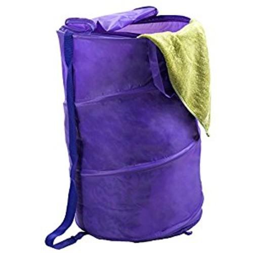 Lavish Home Breathable Pop Up Laundry Clothes Hamper, Purple [Purple]