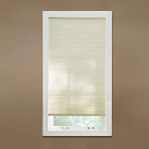 Home Decorators Collection Parchment 9/16 in. Cordless Light Filtering Cellular Shade - 28.5 in. W x 48 in. L (Actual Size 28.125 in. W x 48 in. L)