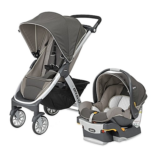 Chicco Bravo Trio Travel System in Papyrus