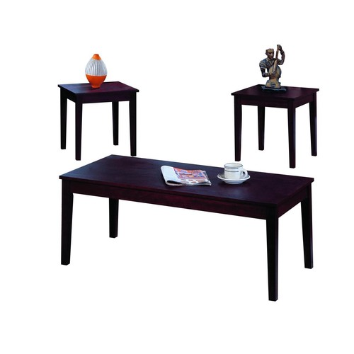 Pilaster Designs - 3 Pc. Cherry Finish Wood Coffee Table & 2 End Tables Occasional Set