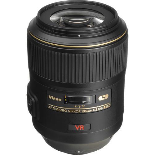 Nikon 105mm f/2.8G ED-IF AF-S VR Micro-Nikkor Close-up Lens USA WARRANTY