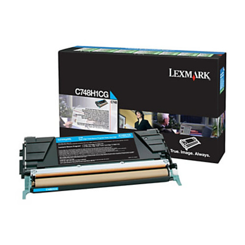 Lexmark X748H1CG High-Yield Cyan Toner Cartridge