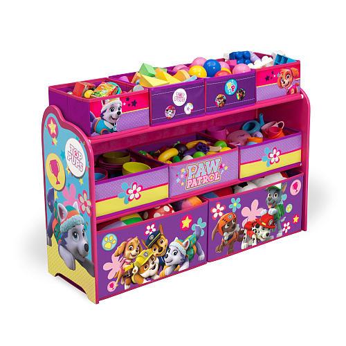 Nickelodeon Paw Patrol Skye and Everest Deluxe Multi-Bin Toy Organizer