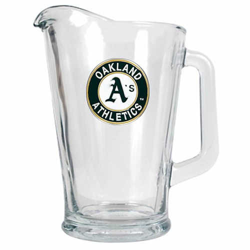 Oakland Athletics Glass Pitcher