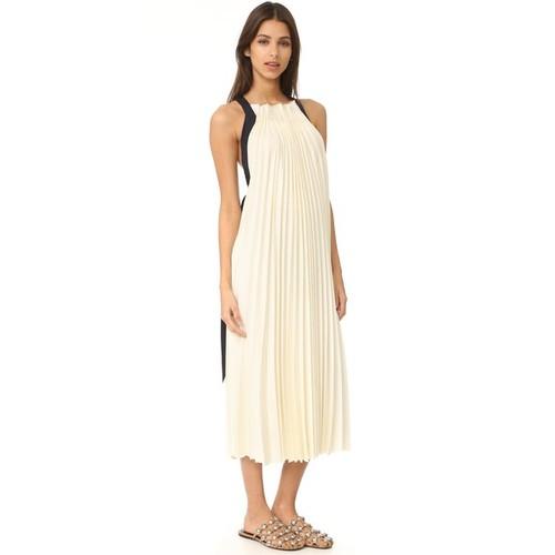 3.1 PHILLIP LIM Sleeveless Pleated Maxi Dress