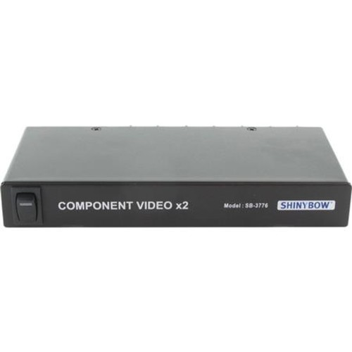 Shinybow 1x2 Component Video Splitter Distribution Amplifier, BNC Connector SB-3776BNC