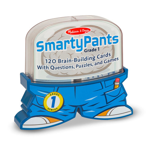 Melissa & Doug Smarty Pants 1st Grade Card Set - 120 Educational, Brain-Building Questions, Puzzles, and Games [1st Grade]
