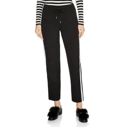 MAJE Passa Cropped Striped Pants