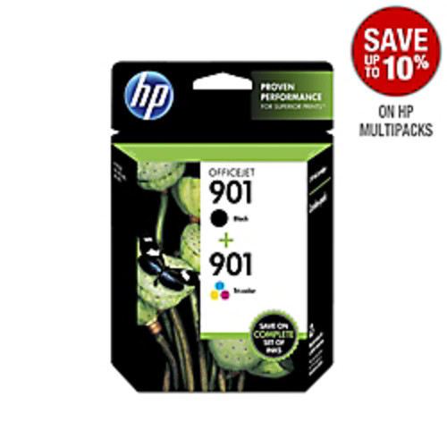 HP Ink Cartridge, No. 901, Black/Tri-Color