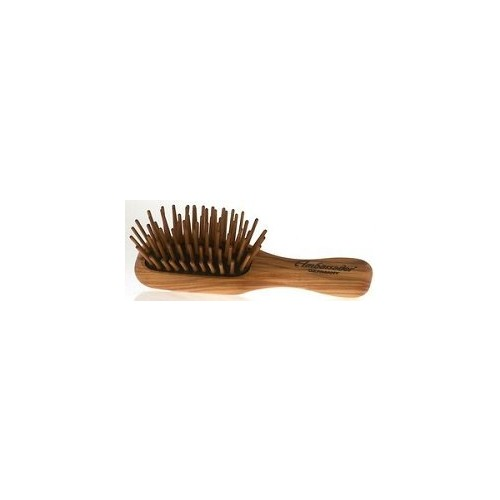 Ambassador Hairbrushes (By Faller) - Olivewood Mini/Wood Pins 5116 - Hairbrushes - Wooden Handle with Pneumatic Brushes