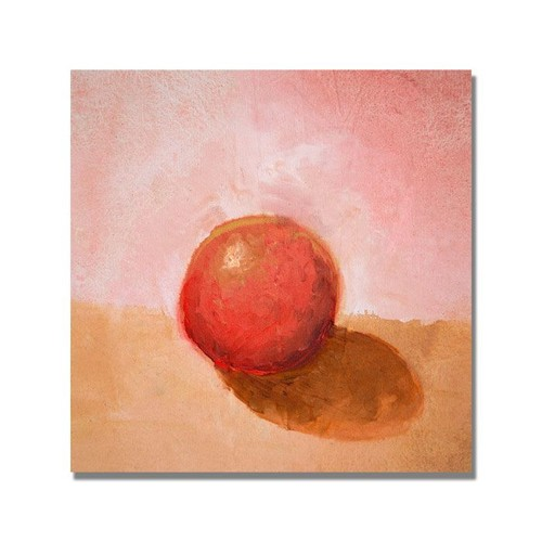 Trademark Global Michelle Calkins 'Red Sphere Still Life' Canvas Art [Overall Dimensions : 18x18]