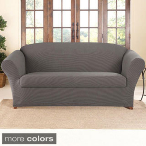 Maytex Conrad Stretch Fabric Two-piece Loveseat Slipcover
