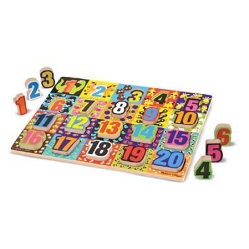 Melissa & Doug Jumbo Numbers Wooden Chunky Puzzle (20 pcs)