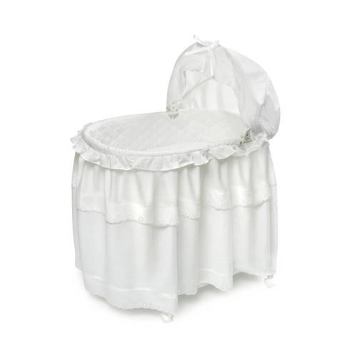 Badger Basket 620 White Batiste Long Skirt Portable Bassinet and ...