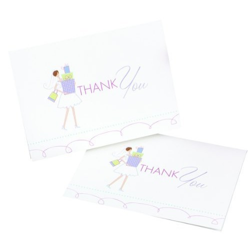 Hortense B. Hewitt Wedding Accessories Bridal Thank You Cards, Pack of 25