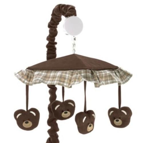 Sweet Jojo Designs Teddy Bear Musical Mobile in Chocolate