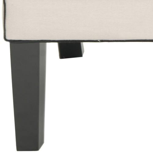 Safavieh Sherman Taupe/ Black Tufted Arm Chair