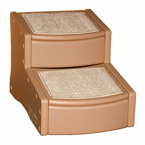 Pet Gear Easy Step II Pet Stairs, 2-step/for Cats and Dogs up to 150-pounds [Cocoa, 2-Step]